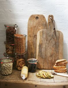 mismatched chopping boards by toast