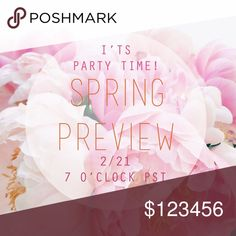 Party Time!! Hey PFF's! I'm so excited to be hosting my 2nd Posh Party on Wednesday 2/21.   The theme is Spring Preview & I'm on the hunt for Host Picks. Posh compliant closets only. Help me spread the word!    xo, Steph Anthropologie Dresses