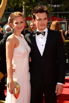 "Rupert Friend and unknown at the ""Creative Art Emmy Awards"" LA sept he was nominated for ""Best Guest Performance"" in the tv show Homeland. Rupert Friend, Deadliest Catch, Claire Danes, Homeland, Film Festival, Creative Art, Best Friends, Awards, Tv Shows"