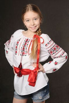 Ukraine, from Iryna with love My Heritage, Ukraine, Little Ones, Folk, Ruffle Blouse, Colours, Traditional, Embroidery, Fabric