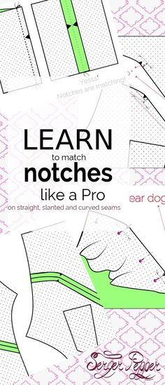 Serger Pepper - Learn to use Notches like a Pro: oyu'll never fail putting together a slanted or curved seam again. All the whys and the how-tos you need to work with sewing notches. Re-pin this now! only on http://SergerPepper.com
