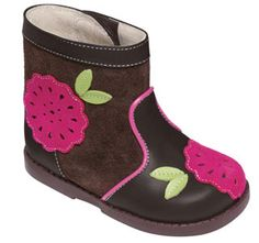 See Kai Run Louise Brown Girls Toddlers Boots from seekairun.com - cool baby shoes, toddler shoes, kids shoes and baby booties.