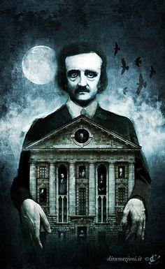 """Book cover illustration: """"The Illustrated Edgar Allan Poe"""" by Diramazioni. Books available, more pics: http://www.diramazioni.it/wordpress/"""