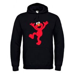 Sudadera Elmo - Sesam Street estampación en vinilo textil. Sudadera, camiseta, t-shirt, hoddie.