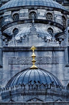 New Mosque , Istanbul ,Turkey Islamic Architecture, Art And Architecture, Empire Ottoman, Visit Istanbul, Blue Mosque, Turkey Travel, Islamic Art, Islamic Images, Byzantine