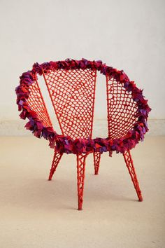 anthropologie colorful chair  Paola Navone Disc Chair