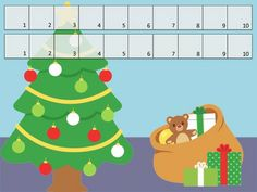 FREE Christmas Unifix Cubes Print & Play Missing Addend Mats and word problem questions.