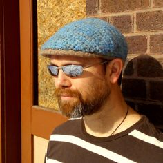 Felt Flat Cap/Drivers Cap/Jeff Cap - Hand Felted and Hand Dyed by ElevatedFibers on Etsy