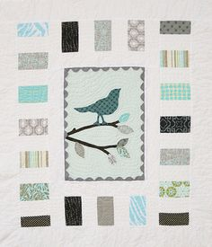 Quilt Pattern PDF bird easy applique modern simple by QuiltStory Baby Girl Quilts, Girls Quilts, Cute Quilts, Small Quilts, Baby Patterns, Quilt Patterns, Quilting Ideas, Sewing Patterns, Bird Quilt