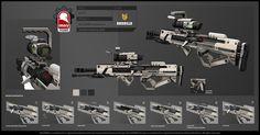 ゲーム用の銃火器が非常に細かくデザインされていることがよく分かる画像
