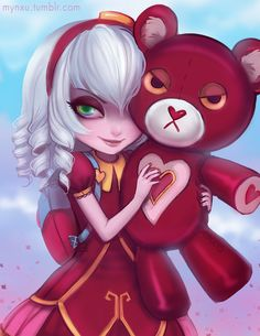 mynxu:  Early Valentines art?!Sweetheart Annie :) First drawing of 2015! happy new years btw…!