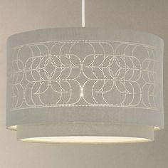 BuyJohn Lewis Easy-to-fit Arvid Pierced Linen Ceiling Shade, Khaki Online at johnlewis.com