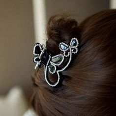 Cute Style Rhinestone Embellished Bowknot Shape Women's Claw Clip, AS THE PICTURE in Hair Accessories | DressLily.com