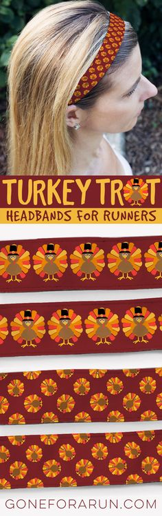 these turkey trot headbands are sure to be a new favorite on your