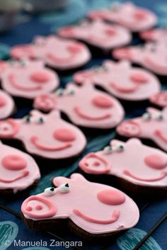 Peppa Pig Chocolate Cookies | The custom of eating pork on New Year's is based on the idea that pigs symbolize progress.