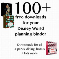 Disney World binder builder 100+ free downloads