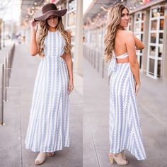 Festival ready, #bohochic, and a little sexy, this maxi dress has it all!  Maxi Dress $47  Floppy Hat $29 : https://nanamacs.com/collections/accessories/products/summer-lights-braided-detail-floppy-hat-brown