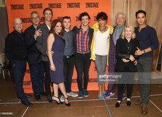 Richie Jackson, Moises Kaufman, Ward Horton, Roxanna Hope Radja, Jack DiFalco, Michael Urie, Merecedes Ruehl, Harvey Fierstein, Carole Rothman and Michael Rosen attend the Off-Broadway cast photo call for 'Torch Song' on September 19, 2017 at the Second Stage Rehearsal Studios in New York City.
