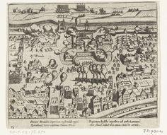 Beleg en inname van het slot Vredenburg te Utrecht door het Staatse leger onder bevel van Bossu, 11 februari 1577, Simon Frisius, Frans Hogenberg, 1613 - 1615
