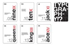 Typography Playing Cards by Penny Tselikis, via Behance