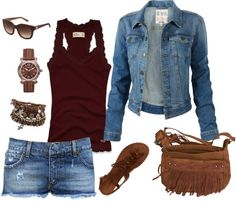 """Maroon & Browns!"" by masilly1 on Polyvore"