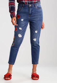 ONLY. ONLTONNI BOYFRIEND - Jeans baggy - dark blue denim. Avvertenze:Non asciugare in asciugatrice,Lavaggio a macchina a 30 gradi,Lavaggio delicato. Lunghezza interna della gamba:63 cm nella taglia 27x32. Composizione:100% cotone. Lunghezza della gamba es...