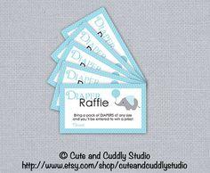 Elephant Baby Shower Printable Diaper by cuteandcuddlystudio, $5.00
