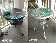 Patio Table Makeover - Patio Table - Ideas of Patio Table - patio table makeover outdoor furniture painted furniture Repurposed Furniture, Painted Furniture, Diy Furniture, Outdoor Furniture, Rustic Furniture, Garden Furniture, Dresser Furniture, Glass Furniture, Furniture Removal