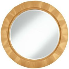 """Harvest Gold 32"""" Round Brezza Wall Mirror - Several different tones available"""