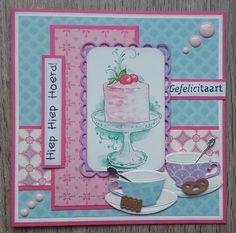 Kim's CreaLife Scrapbooking, Marianne Design, High Tea, Cardmaking, Birthday Cards, Tea Cups, Stamp, Handmade, Craft Cards