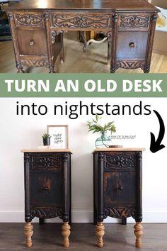 Cheap Furniture Makeover, Diy Furniture Renovation, Furniture Decor, Refurbished Furniture, Flip Furniture, Redoing Furniture, Furniture Stencil, Furniture Repair, Furniture Projects
