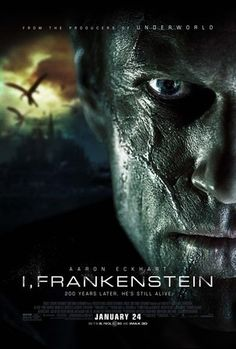 (27x40) I Frankenstein Movie Double-sided poster @ niftywarehouse.com #NiftyWarehouse #Frankenstein #Halloween #Horror #HorrorMovies #ClassicHorror #Movies