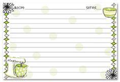 recipe stationery mixer recipe cards stationery