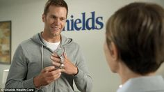 Tom Brady, pictured, filmed an ad for Shields MRI featuring his four championship rings...