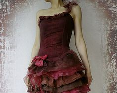 $199 Prom Wedding Costume Dancing Party Boho Chic Bridesmaid Rag Doll Wine Red Lace Tutu Tulle Butterfly Bow Ruffle Layered Dress (Custom Order)