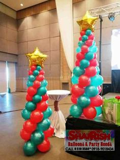 OSM Manila year-end party, participated by almost seafarers and family members. Held at Coral A and Coral B of One Esplanade and at Bay Ballroom of One Esplanade. Balloon Pillars, Christmas Decorations, Christmas Tree, Party Needs, Manila, Balloons, Coral, Teal Christmas Tree, Christmas Decor