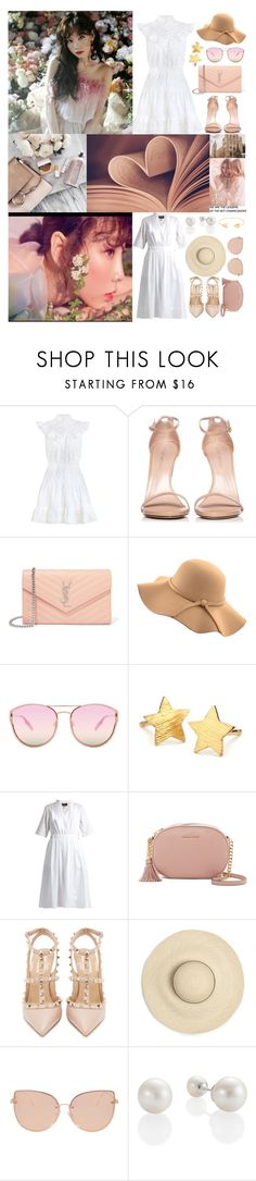 """""""Taeyeon- Make me love you"""" by v-bts8486 ❤ liked on Polyvore featuring Zimmermann, Stuart Weitzman, Yves Saint Laurent, WithChic, Quay, Pernille Corydon, Muveil, MICHAEL Michael Kors, Valentino and Topshop"""