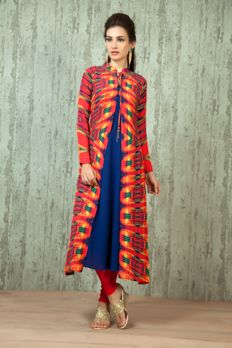 W16-13- Georgette kurti with digital print