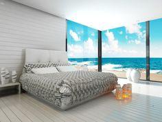 Świat fototapet realizuje rozmaite marzenia. Morze za oknem? Bez problemu.