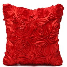 40x40cm 3D Rose Flower Cushion Covers Home Decoration Pillow Case For Sofa/Seat/Car Throw Pillow Cover Purple,Red,Coffee,Blue