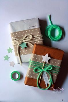 love the star theme! /// 5 pretty gift wrapping ideas