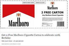 Marlboro Cigarette Carton To Celebrate Birthday in Printable Marlboro Coupons Free Coupons Online, Free Coupons By Mail, Cigarette Coupons Free Printable, Digital Coupons, Free Stuff By Mail, Free Printable Coupons, Free Printables, Spirit Coupon, American Spirit Cigarettes