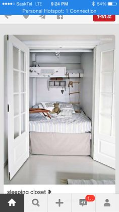 Bed in closet idea