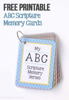 Free printable ABC scripture memory cards for preschoolers