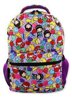 """DISNEY/'S FROZEN BACKPACK PURPLE COLORFUL SNOW GIRL SCHOOL BOOK BAG OLAF 16/"""" NWT"""
