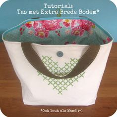 By MiekK: Een Tas Per Week: Week 18 / Tutorial! Sewing Kids Clothes, Sewing For Kids, Sewing Hacks, Sewing Tutorials, Free Tutorials, Diy Bags Purses, Wallet Pattern, Basket Bag, Zipper Bags
