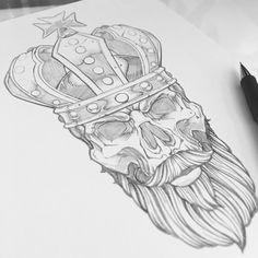 Skull-pencil illustration-skull sketch-sweyda-skull and crown.jpg