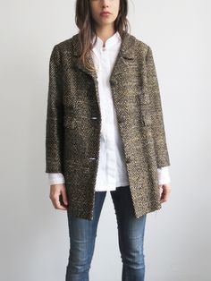 Speckled 1960's Coat // Vintage Mid-Century Boxy Coat SOLD
