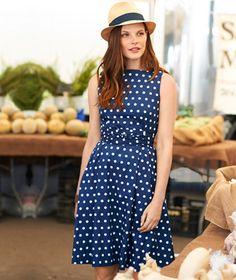114d427ed2e9 #LLBean Signature Poplin Dress, Polka Dot Haute Couture Handbags, Poplin  Dress, Work