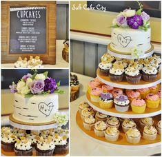 Salt Cake City (www.SaltCakeCity.com) aspen tree rustic wedding cupcakes Tree Cakes, Aspen Trees, Wedding Cupcakes, Rustic Wedding, Cupcake Cakes, Salt, Apple, Cookies, City